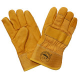 Cow Skin Industrial Safety Winter Warm Driver Labour Working Gloves