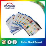 Gráfico de cores de impressão de estilo único lado a lado