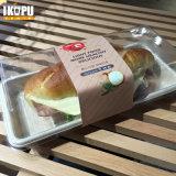 Bandeja placa redonda cuadrada con pasta sin blanquear 100% Biodegaradable