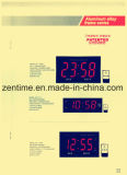 Venta caliente del diseño caliente LED reloj de pared digital con marco de metal para la decoración del hogar