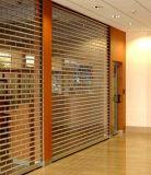 Оптовый занавес PVC Gilles прозрачный сползая двери обеспеченностью занавеса (Hz-TD021)