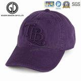 2016浮彫りにされるを用いる最も新しい韓国の紫色の綿の野球帽をカスタマイズした