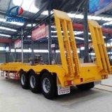 Semi-remorque Remorque 3 essieux type Lowbed/Faible remorques de camions de fret de lit