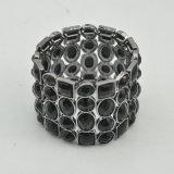 Высокое качество VAGULA стальной черный кристалл браслет