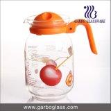 Горячий питчер воды сбывания 1.6L стеклянный, кувшин сока с подгонянным цветком этикеты
