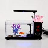 Бак рыб аквариума USB Desktop миниый с вазой карандаша