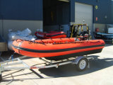Semi-Rigid Opblaasbare Boot van Aqualand 18FT/Militaire Redding/de RubberBoot van de Motor (530)