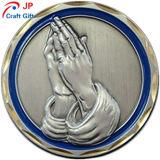 El patrón de la mano de alta calidad personalizado prueba redonda Coin