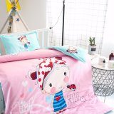 Menina impresso de algodão cama-Choques Bebé roupa de berço definido