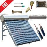 Calentador de agua solar a presión del tubo de vacío con el tubo de calor de cobre