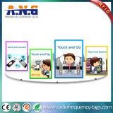DVD de PVC resistente al agua con etiqueta RFID Etiquetas con pegamento en el programa Chip Ntag213