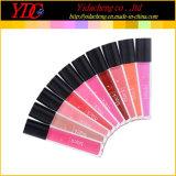 10의 색깔은 화장품 높은 쪽으로 검정을%s 액체 립스틱 입술 광택을 골라낸다