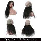 360 perruques de face bouclées de lacet pour des perruques de cheveux humains de femmes de couleur avec le cheveu brésilien pré plumé de Remy de cheveu de bébé