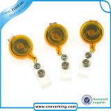 Massa ritrattabile rotonda della bobina del distintivo di identificazione del metallo del yo-yo