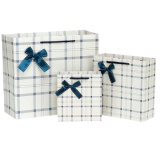 서류상 쇼핑 백 선물을 인쇄하는 백색 피복 부대는 종이를 자루에 넣는다