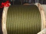 Веревочка стального провода 6X37+FC Ungalvanized тавота 5% желтая для подниматься