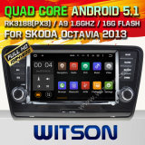 Carro DVD GPS do Android 5.1 de Witson para Skoda Octavia 2013 com sustentação do Internet DVR da ROM WiFi 3G do chipset 1080P 16g (A5520)