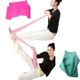 Bande colorée de yoga ; Bande de Pilate/bande élastique de yoga dans le matériel de gymnastique