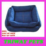 Het hoge Bed van de Hond van het Denim Quaulity (WY161024A/B)