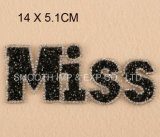 Connexion de lettre de Rhinestone de diamant de fer de broderie de mode pour des vêtements annexes