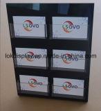 Titulaire d'affichage L Forme Acrylique Noir, Cartes-cadeaux Afficher Racks