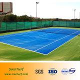 Grama de Cesped Sintetico do tênis, gramado artificial do relvado do tênis de Sinoturf