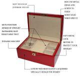 Verpakkende Doos van de Juwelen van de rode Kleur de Houten