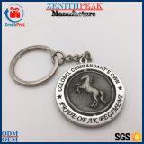 Kundenspezifisches antikes silbernes Metallumdrehungs-Pferd Keychain