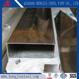Miroir polie AISI 301 Tuyau en acier inoxydable 304 tube rectangulaire