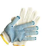 Пвх точек в синий цвет с белыми хлопка рабочие перчатки