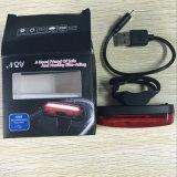 Класс защиты IPX6 USB аккумулятор 600 Ма * ч 150 лм Max синий белый светодиодный индикатор смены цвета велосипед заднего фонаря