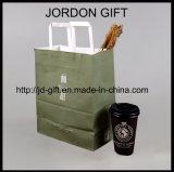 La carta kraft riciclata abitudine del Brown Trasporta il sacchetto di acquisto