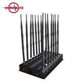35W 4G de Stoorzender/Blocker van het Signaal van de Telefoon van de Cel van WiFi; Bijgewerkte Versie van Volledige Blockers van het Signaal van de Band met GPS WiFi VHF UHF 4G 315 433 Lojack 14 Antennes