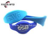 Haute qualité bracelet RFID bracelet en silicone étanche pour une salle de gym Billets