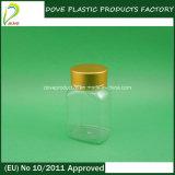 Botella cuadrada de empaquetado del plástico de la píldora del animal doméstico 60ml de la botella
