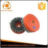 Antiquing Surface Diamond abrasivo escovas, escova de limpeza ferramenta abrasiva