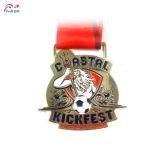 Personalizar el logotipo creativo de fútbol de la medalla de metal