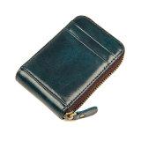 Новая конструкция оптовые цены на молнию Card Wallet натуральная кожа держателя кредитной карты RFID
