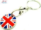 Reticolo personalizzato Keychain in lega di zinco della bandiera nazionale