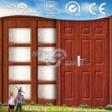 Дверь PVC MDF Approved стеклянной панели CIQ Soncap нутряная