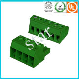 Bloc de jonction PCB vert à 3 broches enfichable de 5,08 mm personnalisé