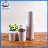 Leere silberne Pumpen-luftlose Haustier-Plastikflaschen für Kosmetik