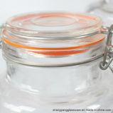 Échantillon gratuit bossage Clear Air Pot de miel en verre étanche avec clip haut de page