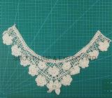 Materia textil del collar del cordón del bordado de la tela de algodón de los accesorios de vestir del hilado de la manera
