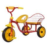 Passeio de bicicleta de crianças bebê triciclo com assentos duplos
