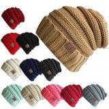Malha de inverno Hat Mulheres Homens com tampão de lã Chapéus Casual