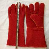 Высокое качество сварки перчатки коровы Split кожаные рабочие перчатки