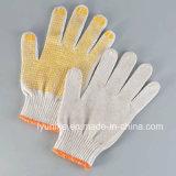 Пвх пунктирной хлопок перчатки желтых точек перчатки ПВХ пунктирной рабочие перчатки
