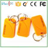 黄色および黒のための125kHz ABS受動RFID Keyfob Tk4100チップによって混合されるカラー