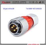 Разъем силы высокого качества IP67 4pin/штыри разъема металла